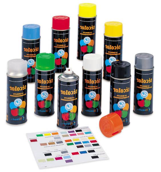bombe peinture noir brillant
