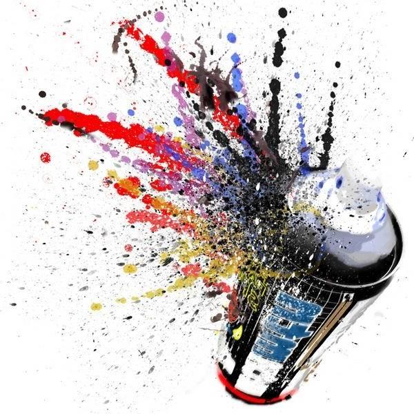bombe de peinture pour plastique
